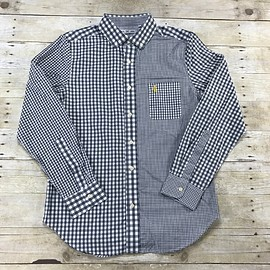 Mark McNairy - Five Four Mark McNairy Gray Plaids / Check Button Down Shirt Mens Size Medium