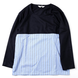 DIGAWEL - WOOL×BROAD P/O NAVY×BLUE STRIPE