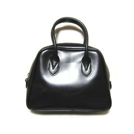 COMME des GARÇONS - black leather boston bag