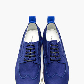 WHITE MOUNTAINEERING - Blue Suede Longwing Austerity Brogues