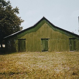 William Christenberry - Green Warehouse, Newbern, Alabama, 1978