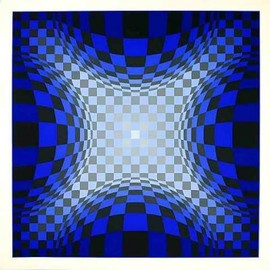 Vasarely - Ond LZ by Victor Vasarely Limited Edition Print - WorldGallery.