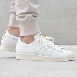 adidas originals - ADIDAS ORIGINALS SUPERSTAR 80S DLX RUNNING WHITE/CREAM WHITE