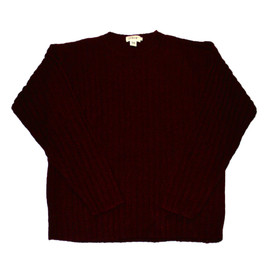 J.CREW - Vintage J Crew Ripped Wool Maroon Sweater Mens Size Large