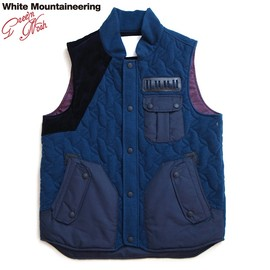 WhiteMountaineering - MELANGE STRETCH KNIT PADDED QUILTED W POCKET VEST