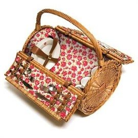 Laura Ashley - Cylinder Wicker Picnic Basket