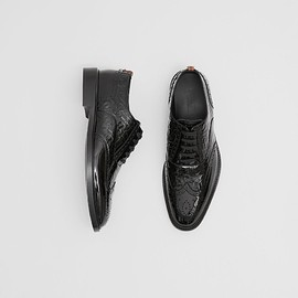 BURBERRY - D-ring Detail Monogram Patent Leather Brogues