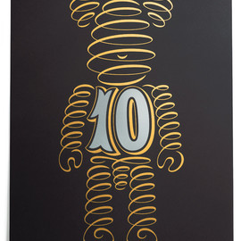 House Industries - House Industries Limited Edition Bearbrick Serigraph