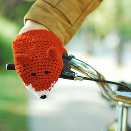 Fox Mittens Gloves Wool Crochet Autumn Fall Winter Cold Days Woman Girl Teens Cozy Ginger Red Forest Animals Woodland