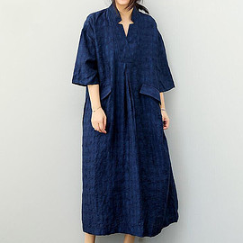 Women dresses - Blue Loose cotton long Women dresses large size Women Clothing summer