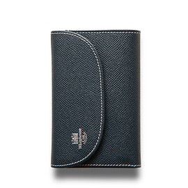 Whitehouse Cox - ホワイトハウスコックス   S7660 3FOLD WALLET / LONDONCALF × BRIDLE(NAVY/RED)