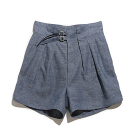 NEAT - Linen Chambray-Gurkha Shorts-Blue