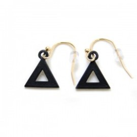 Lilou - TRIANGLE HOOK PIERCE mat black