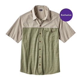 patagonia - M's Clean Color Short-Sleeved Shirt, Clean Mulberry Green (CMYG)