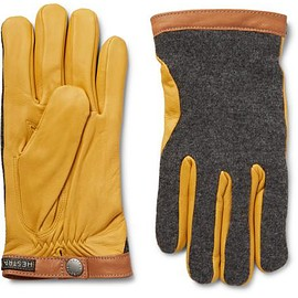 Hestra - Tricot-Knit and Leather Gloves