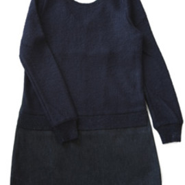 Annc - Denim Knit Dress (navy/denim)