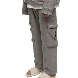 MY MUM MADE IT pty ltd - Grey Quilted Pocket Sweatpants