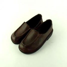 okado - scarap leather slip-on brown