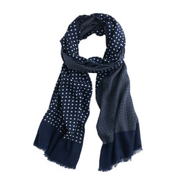 J.CREW - Dotted wool-silk scarf