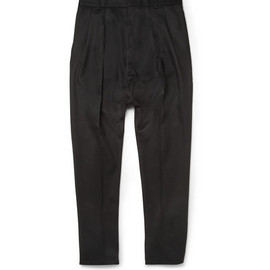 GIVENCHY - DOUBLE-PLEATED DROP-CROTCH WOOL TROUSERS
