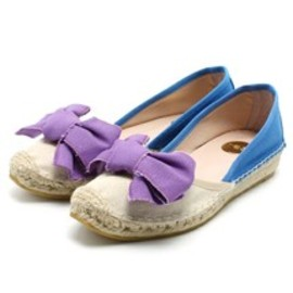ras - ROSE BUD(ローズバッド)の(R.A.S. SHOES) 5982B CANVAS BOW FRONT ESPADRILLE(その他シューズ)|バイオレット