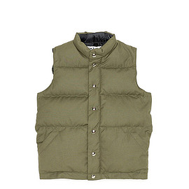 Crescent Down Works - Canvas Down Vest-Olive
