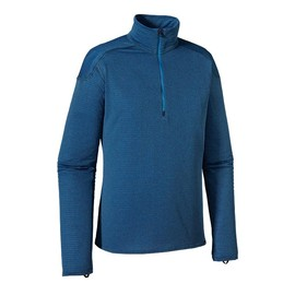 Patagonia - Patagonia Men\'s Capilene\u00AE 4 Expedition Weight Zip-Neck - Classic Navy - Andes Blue X-Dye CNAX
