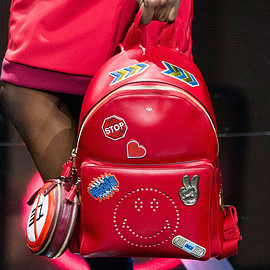 Anya Hindmarch - Anya Hindmarch Smiley Leather Backpack