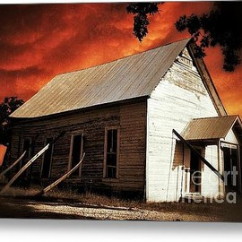 Fine Art America - Lone Star Church Metal Print By Ak Photography