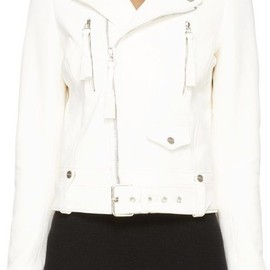 off-white - Off-White Ivory Leather Biker Jacket