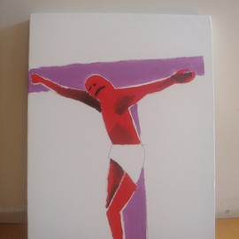 Mark Gonzales - UNTITLED (CHRIST FIGURE)