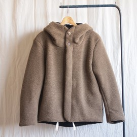 roundabout - Boa Pile Hoodie #olive-beige