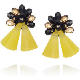 MARNI - Beaded resin earrings