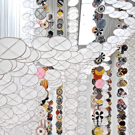 Jacob Hashimoto - silence still governs our consiousness, 2011, installation