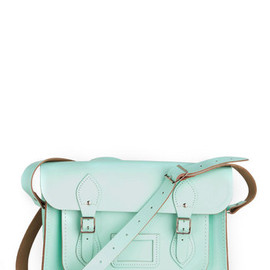 "Cambridge Satchel Company - Upwardly Mobile Satchel in Mint - 13"" by The Cambridge Satchel Company  - Green, Solid, Buckles, Pockets, Casual, Vintage Inspired, Pastel, Work, Mint, International Designer"