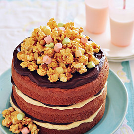 Sweetapolita - Peanut Butter & Chocolate Cake with Salted Caramel Popcorn