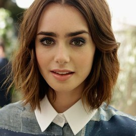 Lily Collins /bob hairstyle