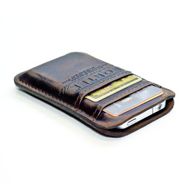 PORTEL - iPhone/iPod RETRO MODERN leather wallet