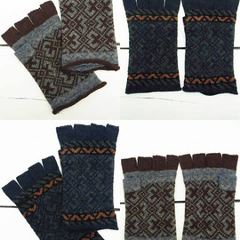 UNDERCOVERISM - Jacquard Fingerless Glove