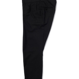 bal - WORSTED WOOL DRAPING SUIT PANT