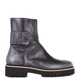 MM6, Maison Martin Margiela - Burnished leather ankle boots
