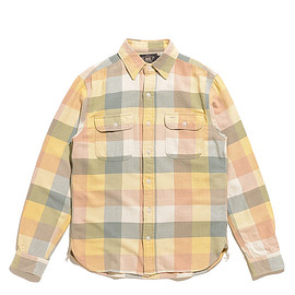 RRL - Plaid Twill Workshirt-Yellow×Green