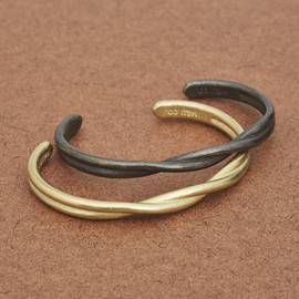 Solid Brass Twisted Cuff
