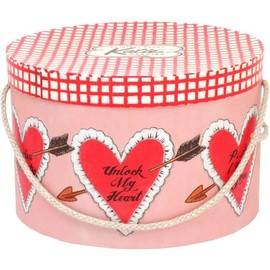 Katie - HAT BOX round HEART ARROW L