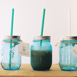 MASON BAR COMPANY - Mason Jar 16oz Tumbler with straw /Price ¥2.400