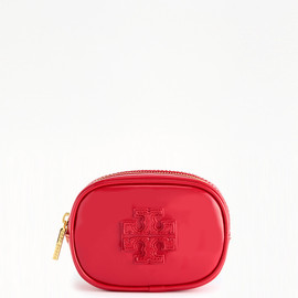 TORY BURCH - patent STACKED SMALL COSMETIC CASE