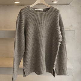 HONOR GATHERING - FINE WOOL HEAVY ARMY LIB KNIT