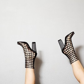 Yves Saint Laurent - Cage Boots