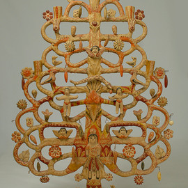 Aurelio Flores - Tree of Life Mexican Folk Candle Stand