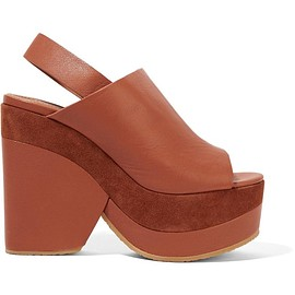 See by Chloé - Suede-trimmed leather platform sandals